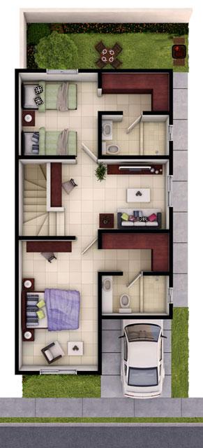 Casas en venta en Guadalupe- Modelo Provenza Planta Alta