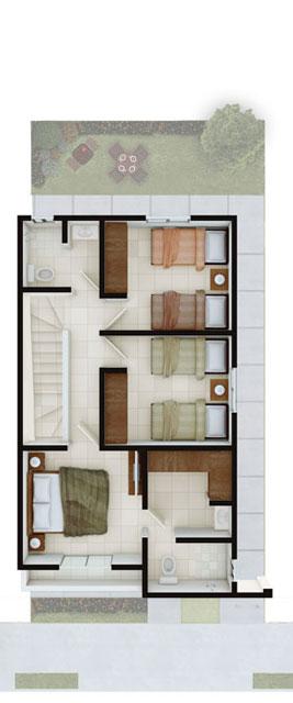 Casas en venta en Guadalupe- Modelo Castilla lV - 7 Planta Alta