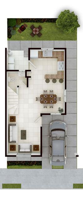 Casas en venta en Guadalupe- Modelo Castilla lV - 7 Planta Baja