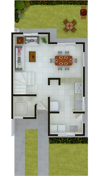 Casas en venta en paseo amberes - Modelos de casas de planta baja ...