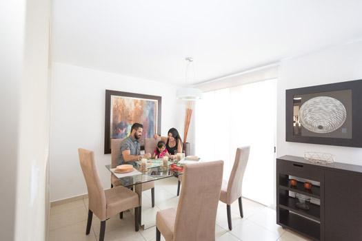 Foto de casa en venta en Guadalupe, Nuevo León, comedor del modelo Provenza, Paseo Amberes.