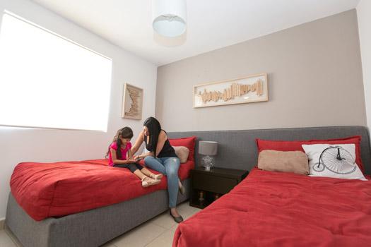 Foto de casa en venta en Guadalupe, Nuevo León, recámara del modelo Provenza, Paseo Amberes.