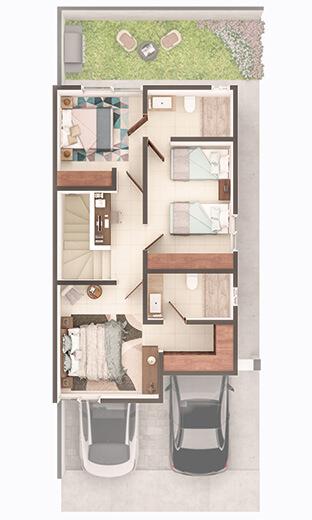 Foto de casa en venta en Guadalupe Nuevo León, planta alta del modelo Soria en Paseo Amberes.